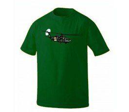 GREEN BLACK HAWK T- SHIRT