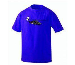 BLUE BLACK HAWK T- SHIRT