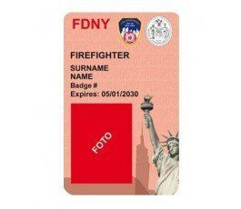FIREFIGTHER FDNY ID CARD