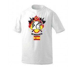 Camiseta Bomberos Con Bandera Personalizada