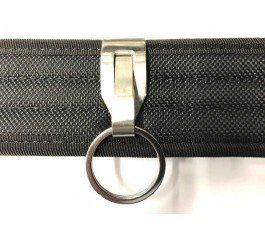 Security  On Heavy Duty Belt Stainless Steel Keyring