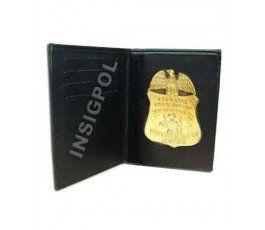 PLACA INSIGNIA FBI CON CARTERA TIPO LIBRO