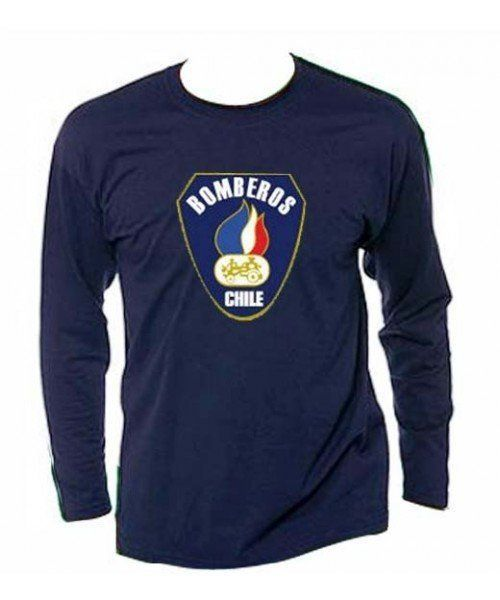 CAMISETA MANGA LARGA  BOMBEROS CHILE
