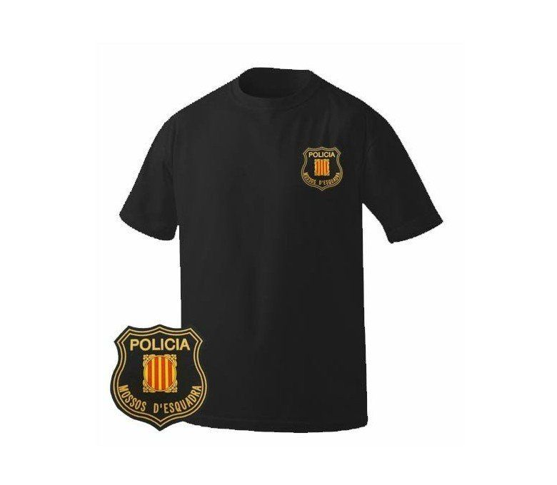CATALONIA POLICE BLACK T-SHIRT