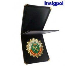 SPANISH CIVIL GUARD BADGE  LEATHER CASE