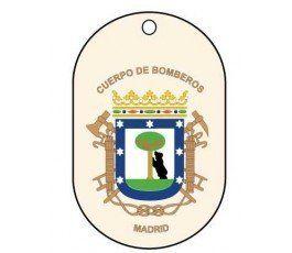 CHAPA IDENTIFICACIÓN BOMBEROS MADRID