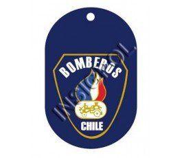 CHAPA IDENTIFICACIÓN BOMBEROS CHILE