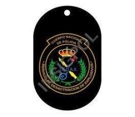 SPANISH NATIONAL POLICE TEDAX DISCONTINUED DOG TAG