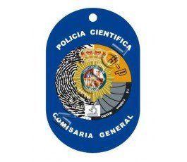 CHAPA IDENTIFICACIÓN CUERPO NACIONAL POLICÍA POLICÍA CIENTÍFICA