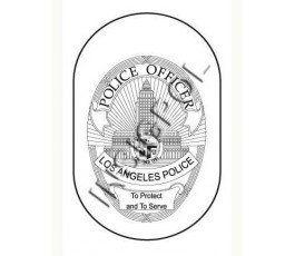 CHAPA IDENTIFICACIÓN POLICÍA DE LOS ANGELES