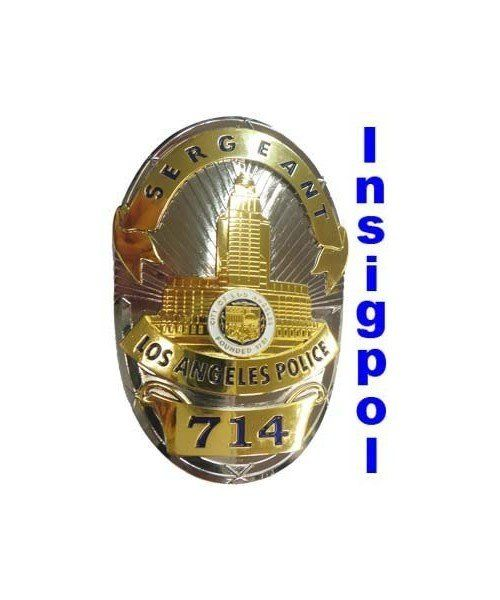 LOS ANGELES SERGEANT POLICE BADGE