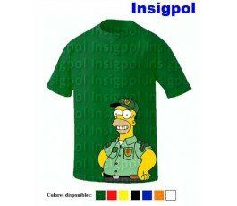 CAMISETA HOMER GUARDA SEGURIDAD