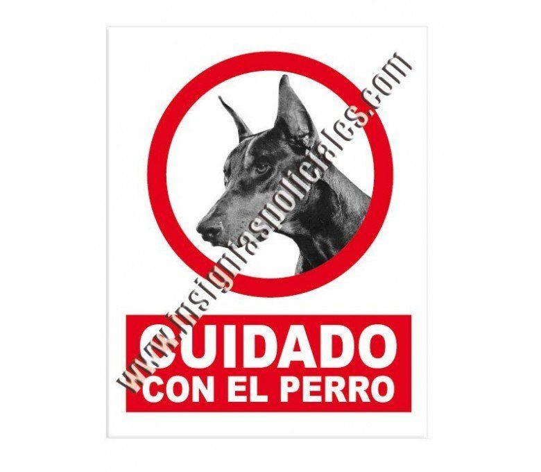 adhesivo-cuidado-con-el-perro