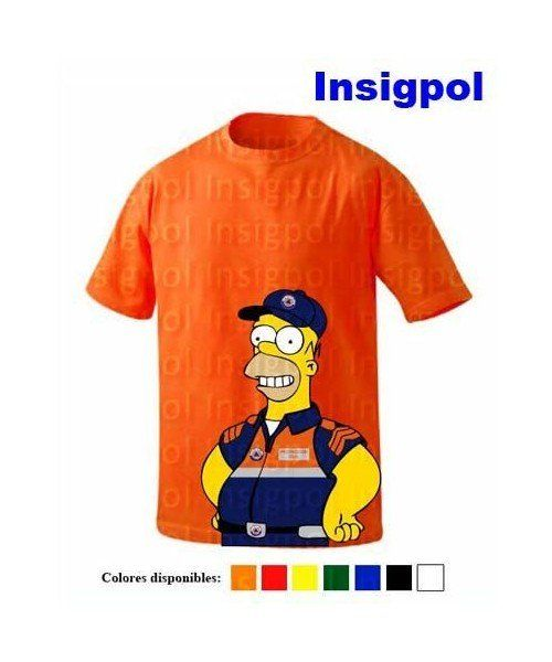 HOMER SIMPSON CIVIL PROTECTION  T-SHIRT