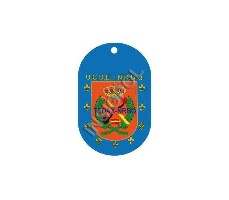 SPANISH NATIONAL POLICE TEDAX NEW EMBLEM DOG TAG