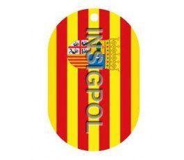 ARAGON FLAG DOG TAG