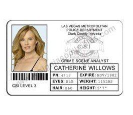 CREDENCIAL CSI LAS VEGAS AGENTE CATHERINE WILLOWS