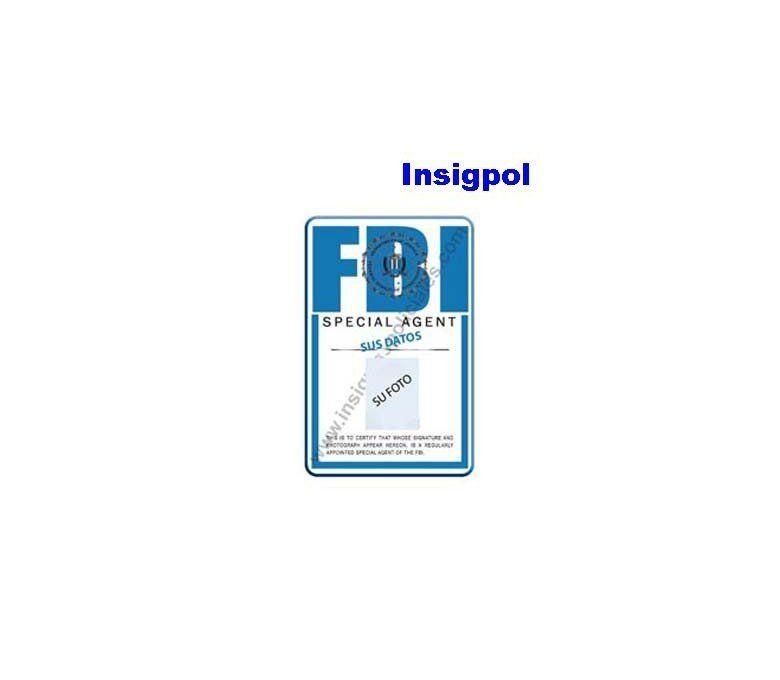 V FBI CUSTOM ID CARD