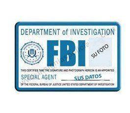 H FBI CUSTOM ID CARD