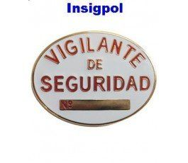 Placa Vigilante Seguridad