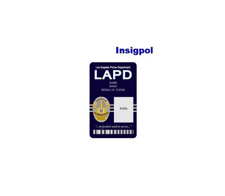 LAPD CUSTOM ID CARD