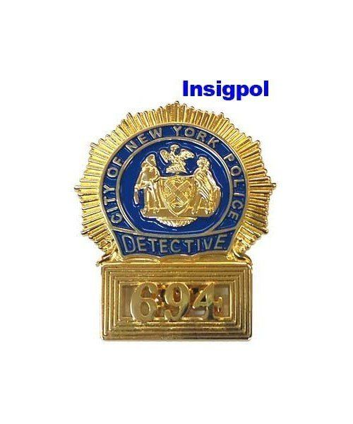 DETECTIVE NEW YORK CITY POLICE DEPARTMENT BADGE