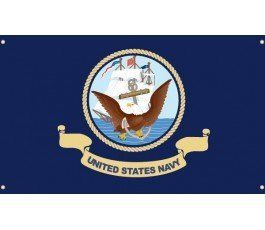 US DEPARTMENT NAVY BLUE FLAG