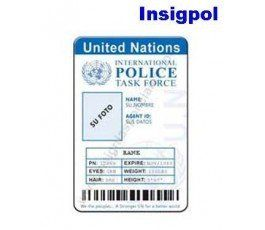 CREDENCIAL POLICÍA ONU