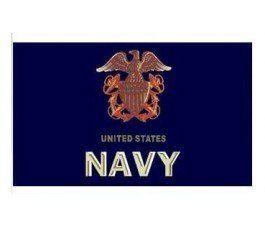U.S.A. Navy blue flag