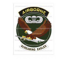 adhesivo-airborne-screaming-eagles
