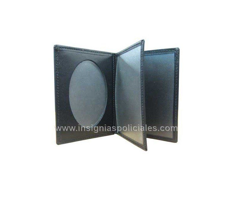 SPANISH OBSOLTE PRIVATE SECURITY GUARD LEATHER BOOKSTYLE CASE