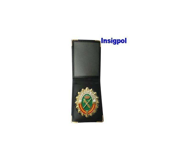 SPANISH CIVIL GUARD BADGE  LEATHER SIMPLE CASE