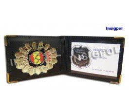 SPANISH OLIMPIC SHOOTER BADGE & LEATHER SIMPLE CASE