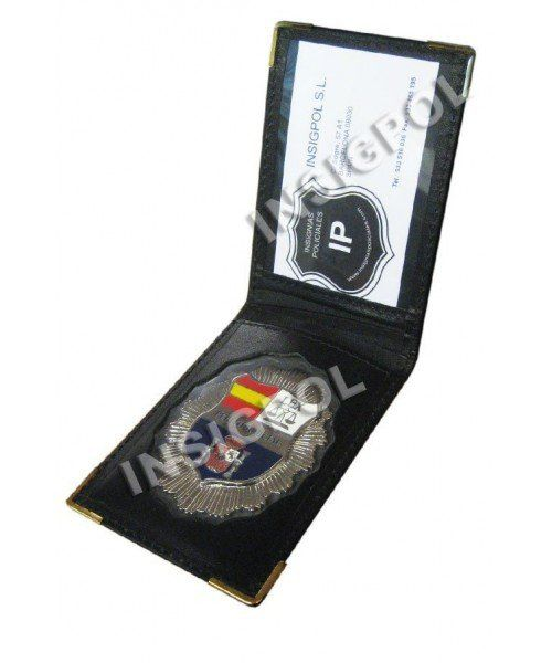 SPANISH COURT EXPERT BADGE  LEATHER CASE