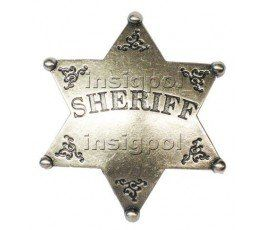 SHERIFF 6 POINTED STAR BADGE
