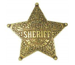 SHERIFF 5 POINTED STAR BADGE
