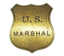INSIGNIA US MARSHALL ANTIGUO OESTE