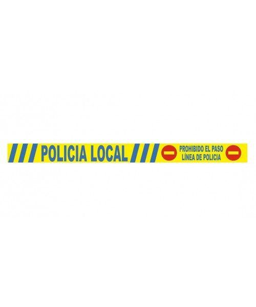 LOCAL POLICE POLICE LINE. Special prices for high quantities. Police line printed on one side. Roll length 100 mts. 8 cm.