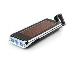 RECHARGEABLE DYNAMO SOLAR 3D FLASHLIGHT