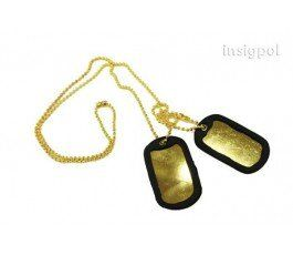 U.S. MARINES MILITARY GOLD DOG TAG