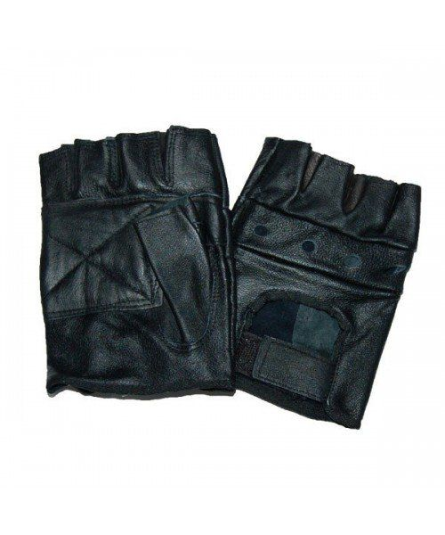 MIL-TEC LEATHER CUT FINGERLESS GLOVES
