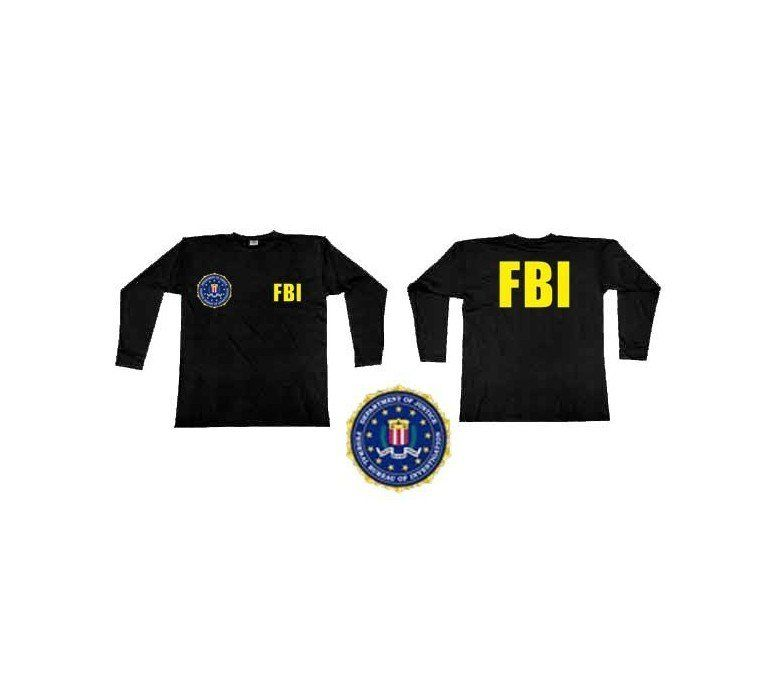 FBI Tactical Military Federal Buro of Investigation T Shirt Police Black