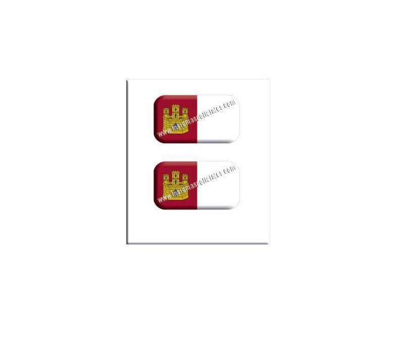 castilla-la-Mancha-flag-resin-sticker