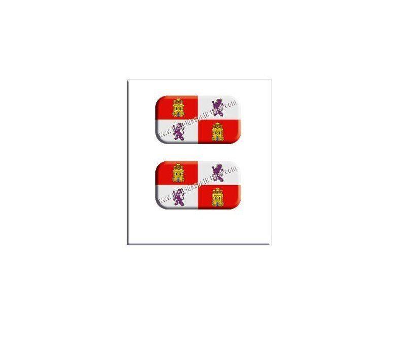 castilla-y-león-flag-resin-sticker