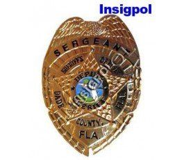 MIAMI POLICE SERGEANT BADGE