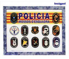 FRAMED MOSSOS D'ESQUADRA POLICE PATCHES SET