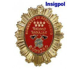 MADRID BARAJAS AIRPORT FIREFIGHTER BADGE