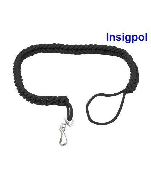 BLACK WHISTLE CORD FOR SECURITY GUARDS