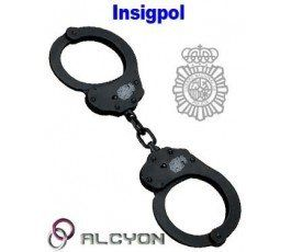 NATIONAL POLICE LOGO ALCYON BLACK HANDCUFF