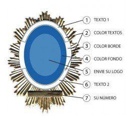 CUSTOM TOP DISK SPANISH POLICE BADGE